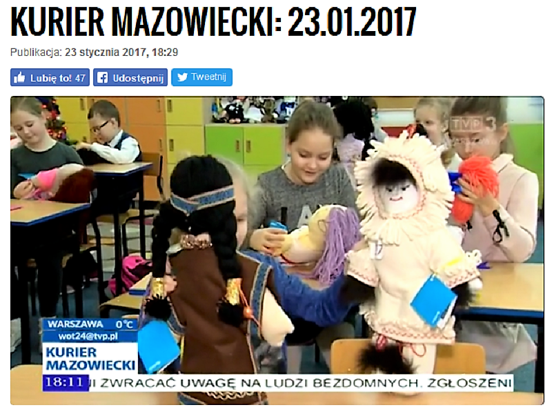 Nasze pomocne lalki w Kurierze Mazowieckim