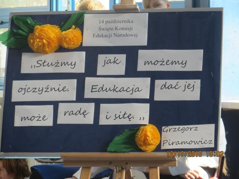 Apel z okazji Dnia Edukacji Narodowej