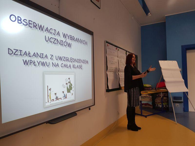 Obserwacja wybranych uczniów  - konferencja upowszechniająca  w Szkole Podstawowej nr 1 im. Stanisława Staszica w Piastowie