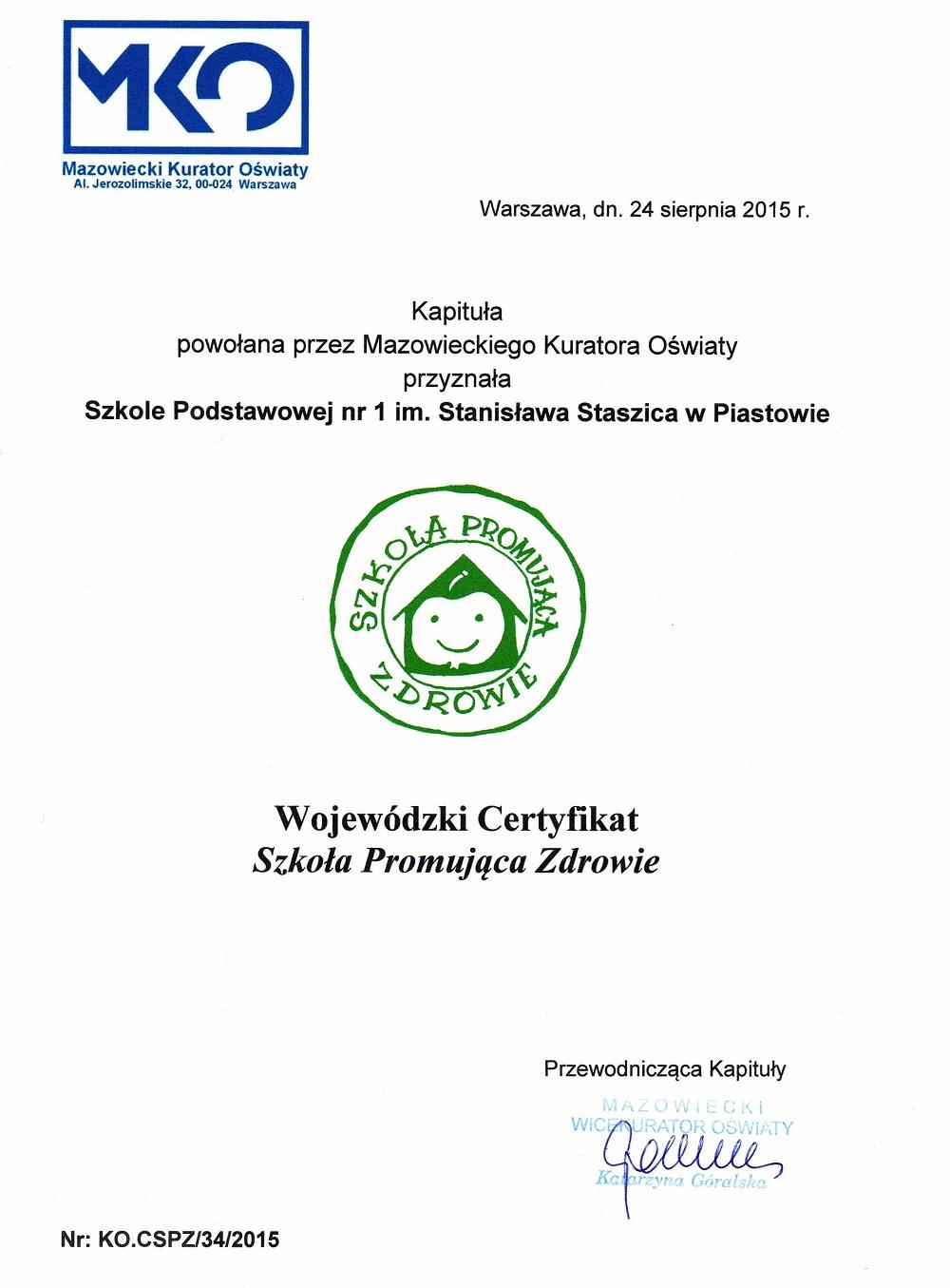Promocja Zdrowia Szkoła Podstawowa Nr 1 W Piastowie