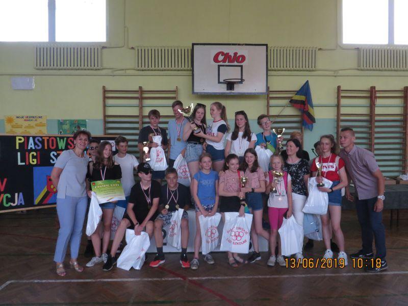 Fotorelacja z uroczystego zakończenia Piastowskiej Ligi Szkół