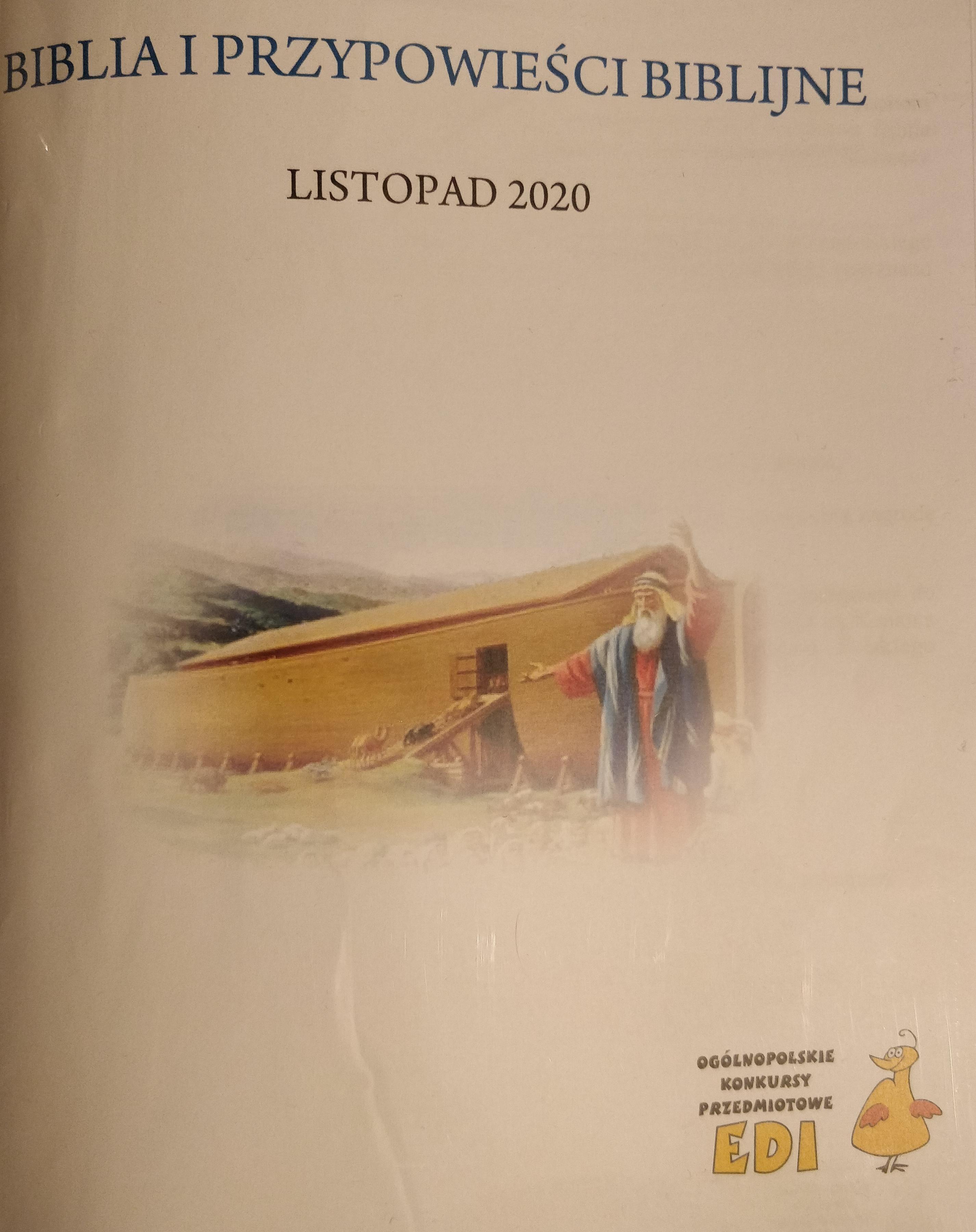 """Wyniki Ogólnopolskiego Konkursu  """"Biblia i Przypowieści Biblijne"""""""