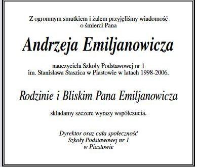Pożegnanie Pana Andrzeja Emiljanowicza