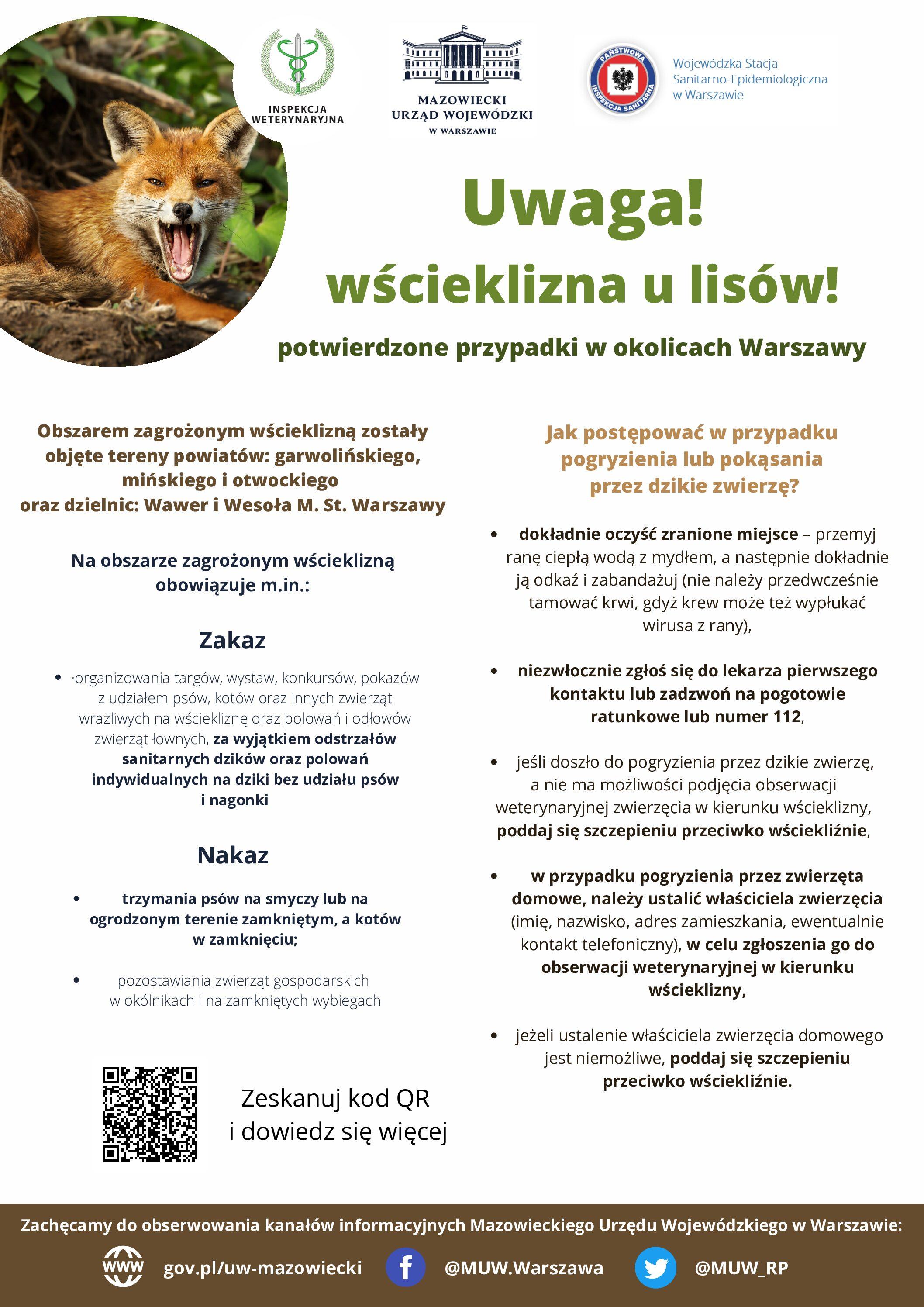 Wścieklizna u lisów w woj. mazowieckim
