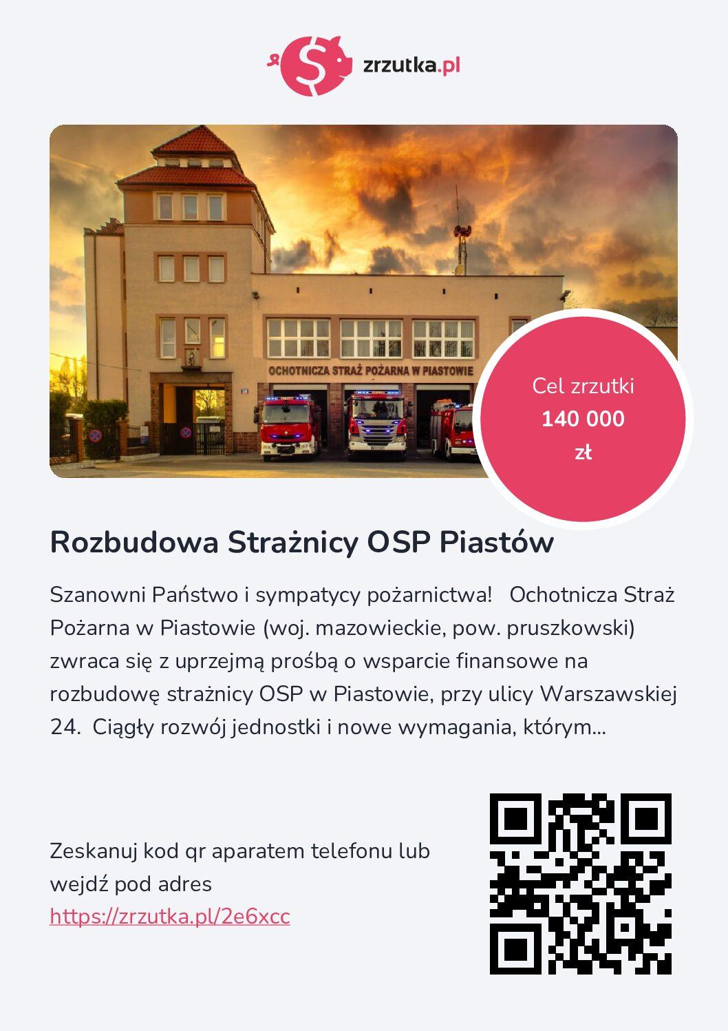 Wsparcie dla OSP w Piastowie